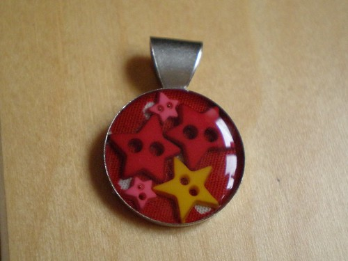Resin Pendant with Stars