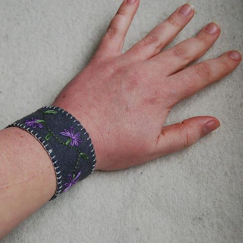 felt cuff - wrist