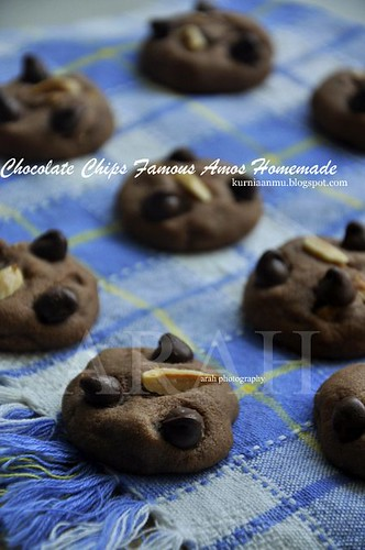 Biskut Coklat Chips Famos Amos Homemade