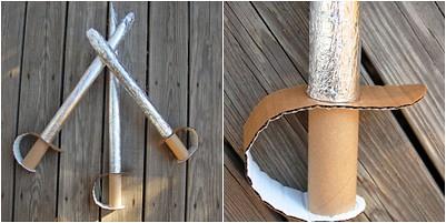 espada disfraz reciclaje