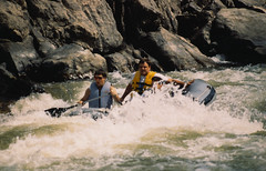 kayaking(0.0), whitewater kayaking(0.0), adventure(1.0), vehicle(1.0), sports(1.0), rapid(1.0), river(1.0), recreation(1.0), outdoor recreation(1.0), boating(1.0), extreme sport(1.0), water sport(1.0), boat(1.0), rafting(1.0),