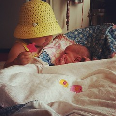 #sisters #siblings #newborn #toddler