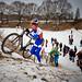 Mike Teunissen tijdens de Cyclocross Heerlen in het Hellegat