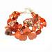 Andrea Rosenfeld: Carnelian Lucite Coral Five-strand-bracelet