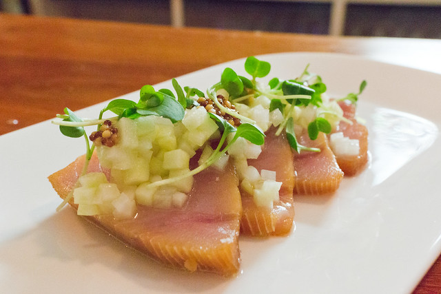 Anglo albacore crudo flickr photo sharing for Whole foods sushi grade fish