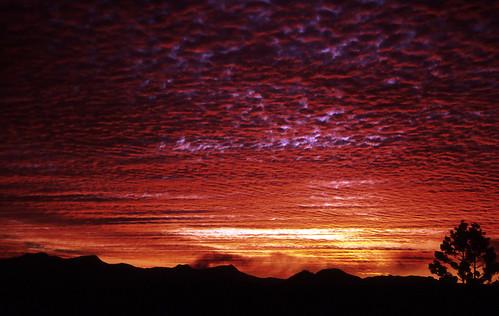park sunset sky film silhouette clouds 35mm se mt australia slide hills national scanned qld queensland 1994 barney jacksplace mtmaroon