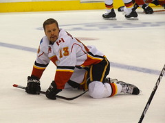 Olli Jokinen - Calgary Flames Player - Staples Center - Los Angeles, CA - USA