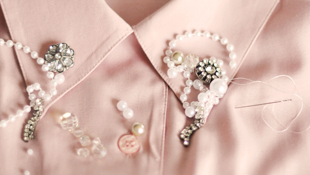 4embellished collar diy -pearls and beads-3