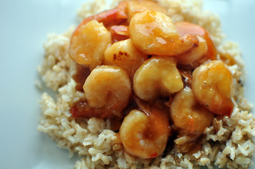 Stir Fried Orange Shrimp