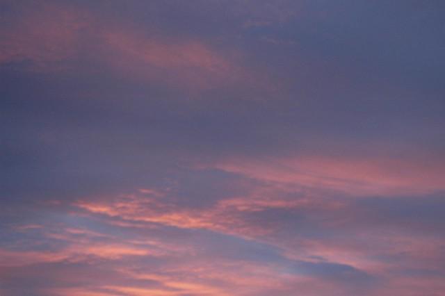 blue sky & pink sky