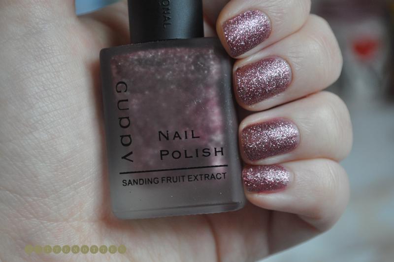 guppy cuddv 3 purple pink glitter notd nail polish matte