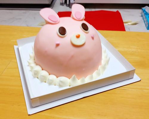画像:うさぎのケーキ