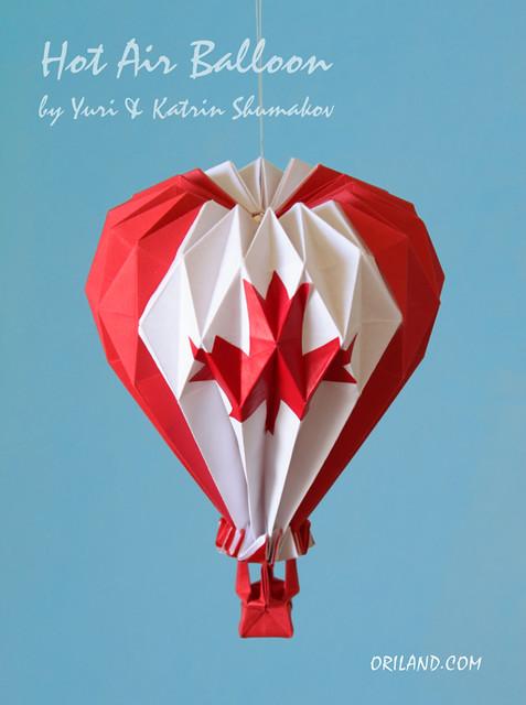 origami hot air balloon instructions wwwimgkidcom