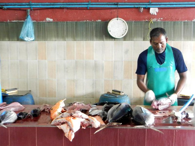 Maldives fish market in Male by CC user kwankwan on Flickr
