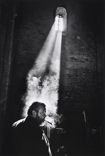 Orson Welles en la grabación de Campanadas a medianoche (España, 1964)