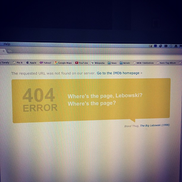 IMDb has a great 404 page!
