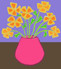 Purim Flowers (Digital Oil Pastel) by randubnick