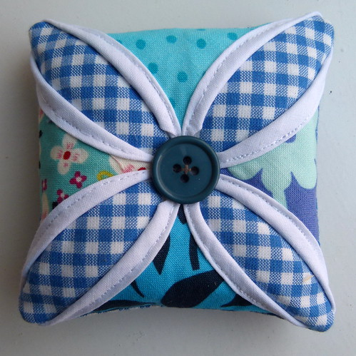Cathedral Windows Pin Cushion