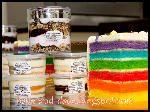 Italian Rainbow Cake + Lapis Cheezy + Blackforest Cream ~ 3 March 2012