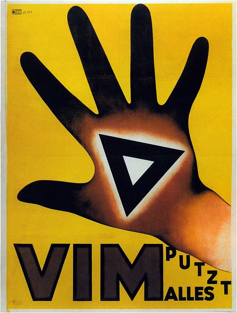 Niklaus Stoecklin, Vim, cleans everything, 1929