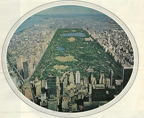 Ariel View, Central Park, NYC, NY - Circa 1972