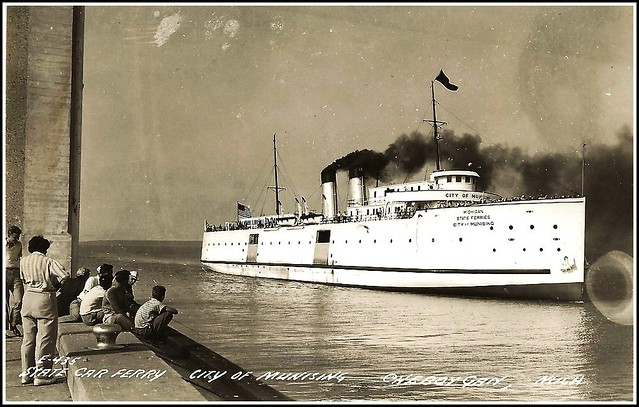 Towed Car Finder >> Pere Marquette car ferry No. 20, renamed City of Munising ...