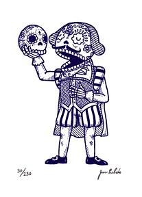 Shakespeare Calavera Gocco Print