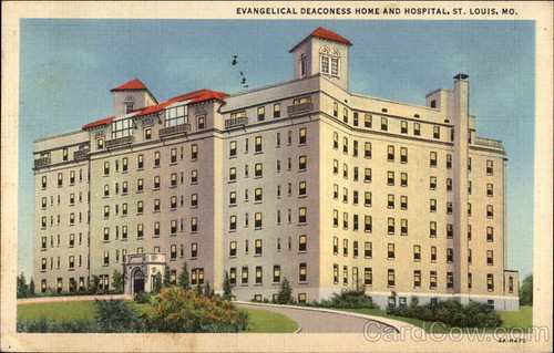 Deaconess Hospital 1941 Postcard
