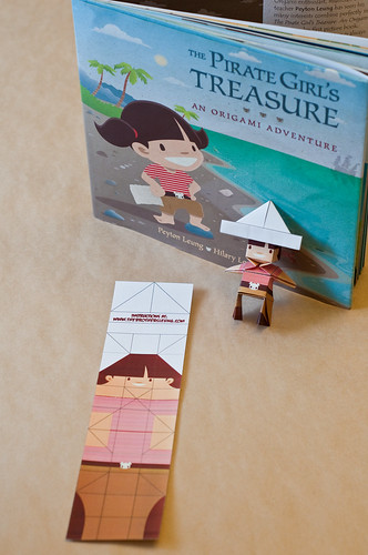 Pirate Girl Origami Bookmark