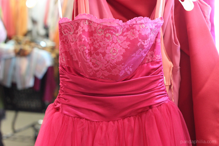 hot pink lace and tulle