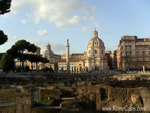 Trajan's Forum in Rome on Seven Wonders of Ancient Rome with RomeCabs