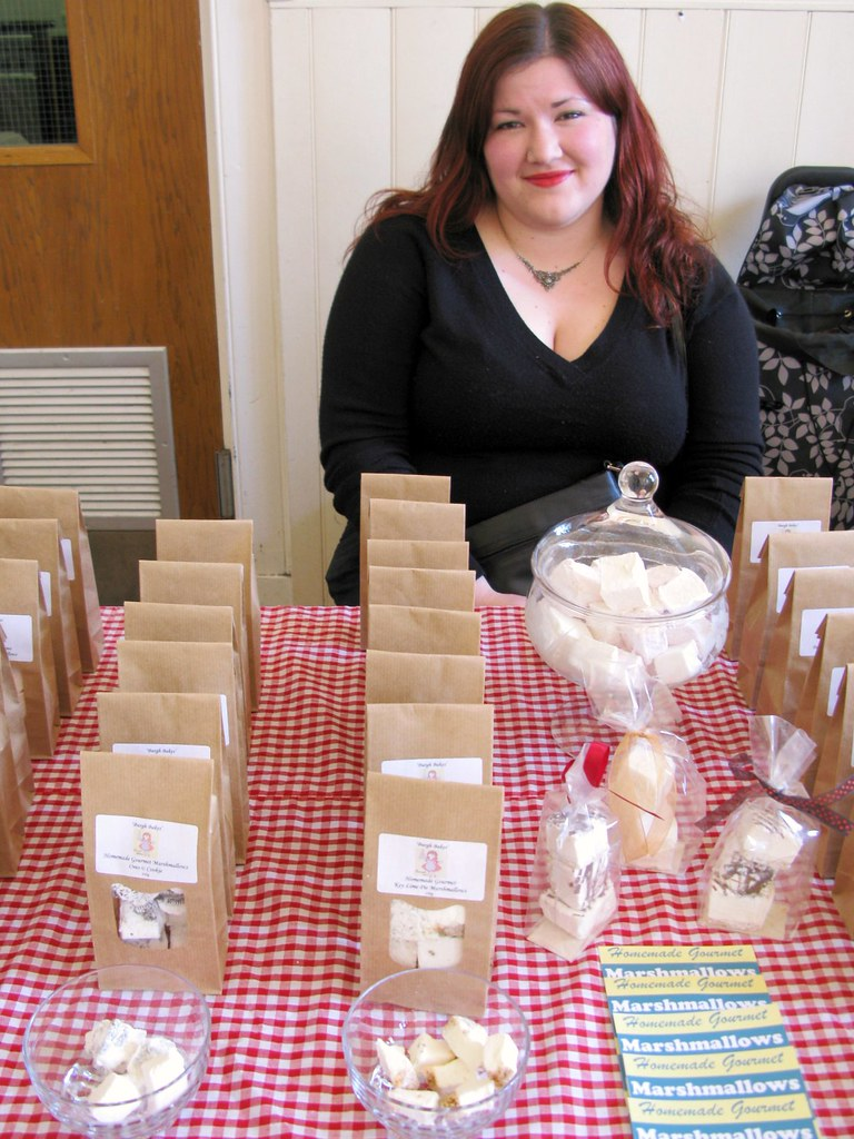 The Marshmallow Lady, Nicole Roberts at The Market, April 28th 2012   Emma Lamb