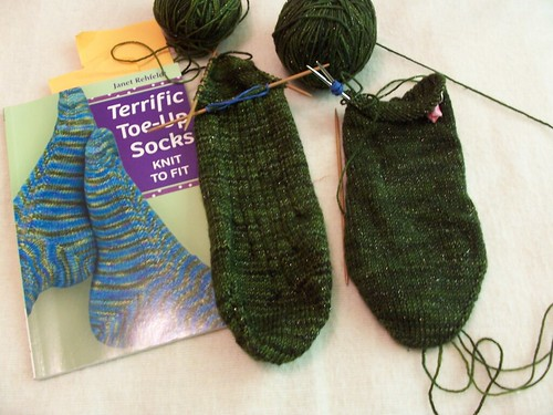 St. Pat's Day socks.  oops by fiberbrarian