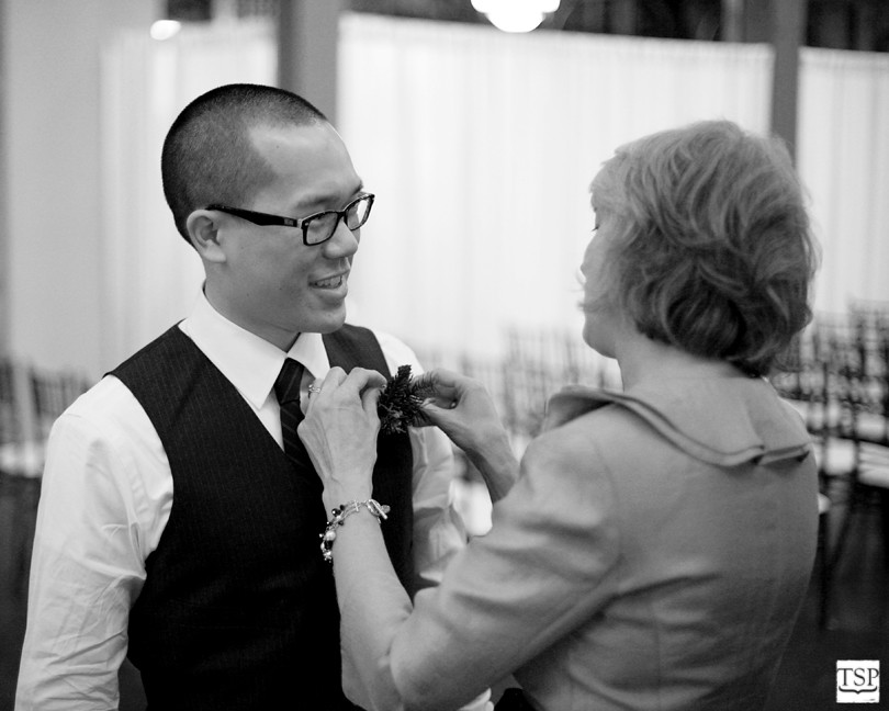Mother of Bride Pinning Boutonniere