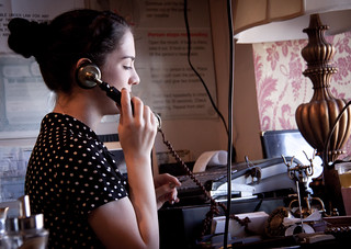 Renee at Cafe Marlene on the Old Fashioned Phone - Sunnyside, Queens