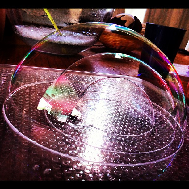 Bubble dome #bubbles #science #play