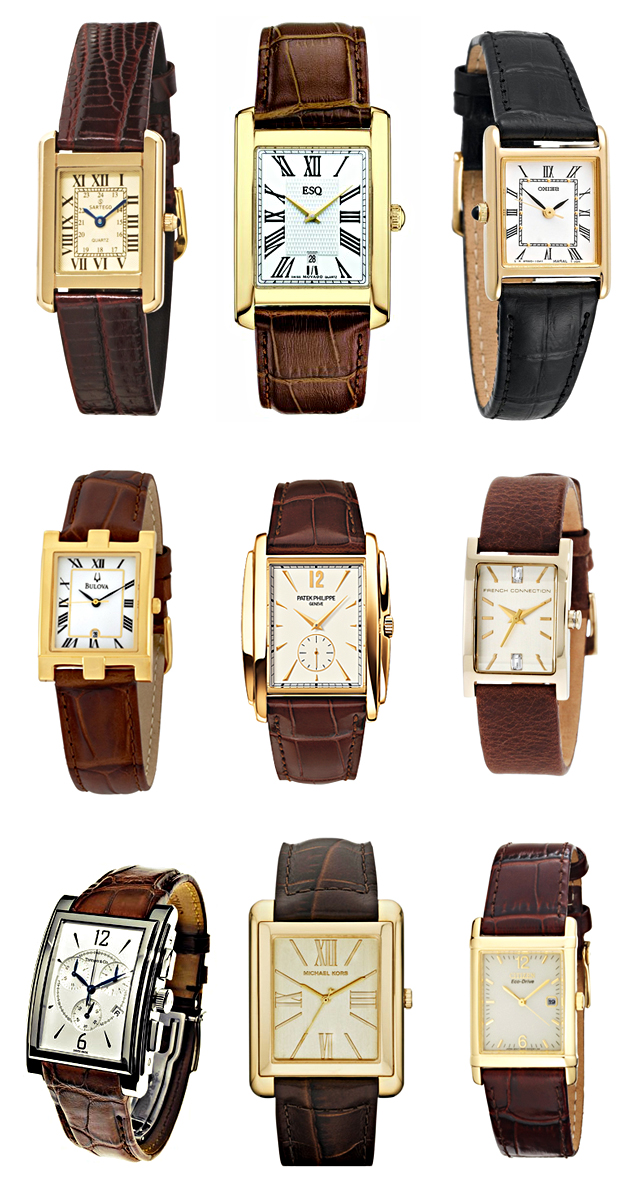 TANK style watches