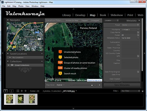 Adobe Lightroom 4 - Map