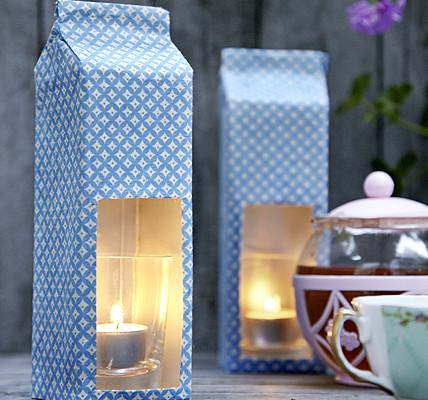 Faça uma luminária com caixas tetrapak