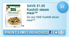 Kashi Steam Meal Coupon