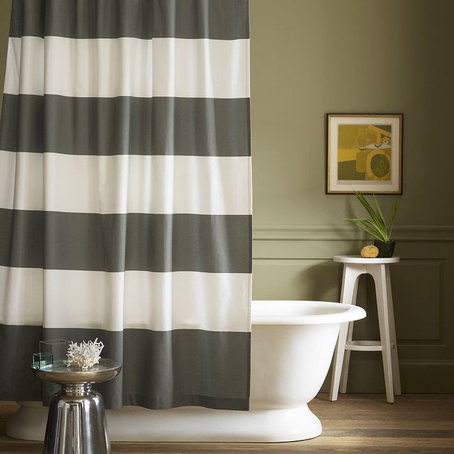 West Elm Stripe Shower Curtain2
