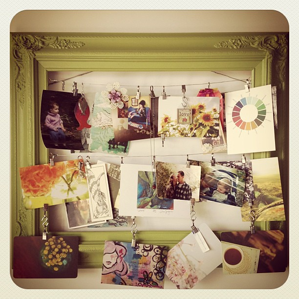 My inspiration board is hung. Lots of love here!