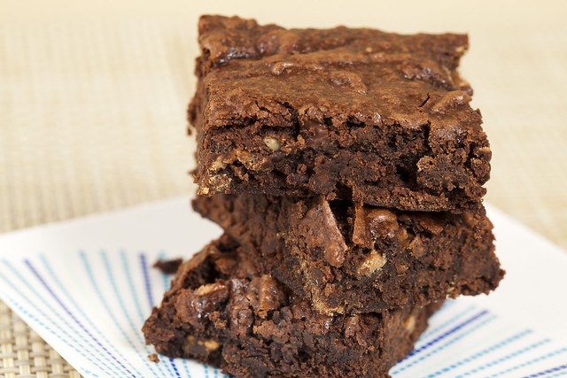 Chocolate-Peanut Butter-Banana Bread Fudge Bars
