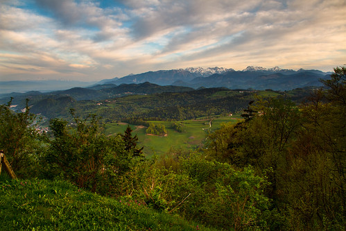 morning sky alps clouds view slovenia slovenija gora gorenjska limbarska