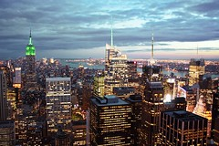 View from the top of the Rock, New York