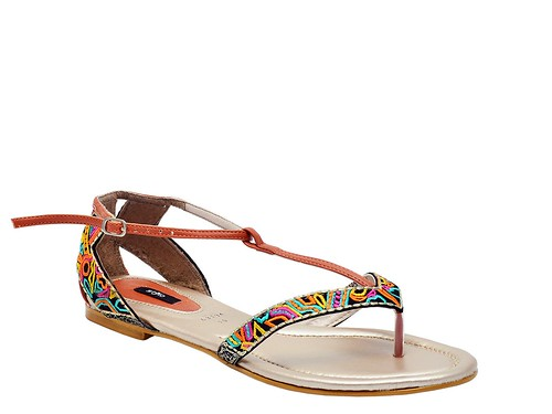 Rust Flat Formal sandal (4)