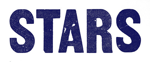 STARS-wood-type-blue