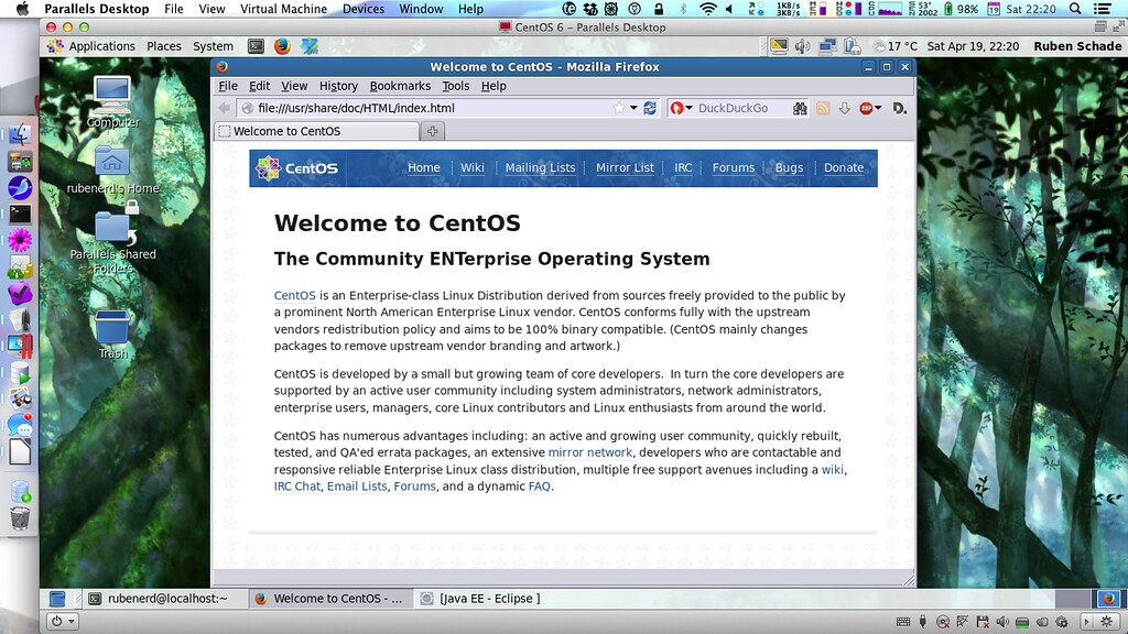 CentOS 6.5 in Mavericks, just because
