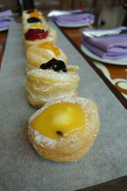 W Crones with Pastry Cream & topping - Passion fruit Butter, Marmalade, Strawberry & Blackberry Preserves - WooBar, W Singapore Sentosa Cove