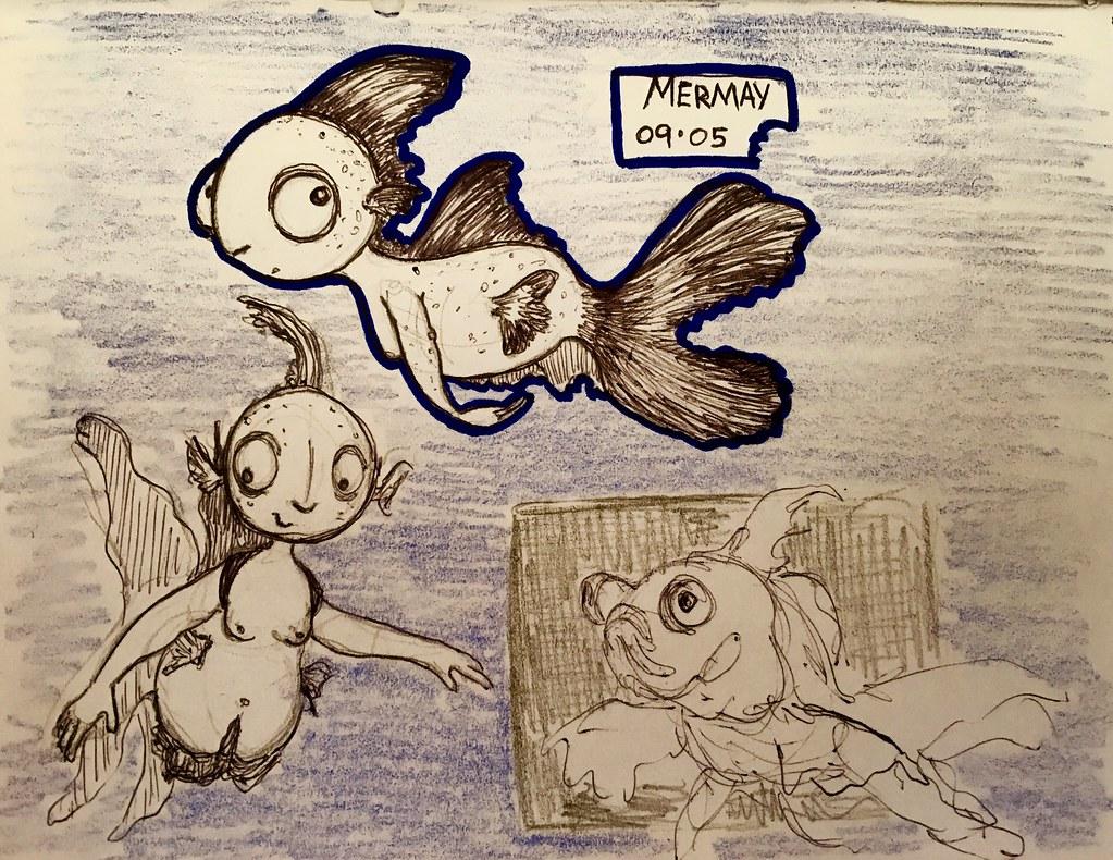 #mermay goldfish